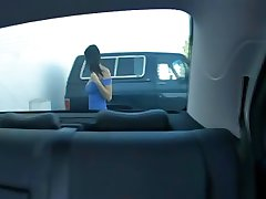Broad in the beam tits MILF fuccked in backseat be advantageous to car