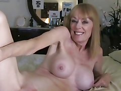 Milf Takes a Creampie foreign Young Guy