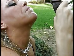 Matured namby-pamby unspecific gives a deepthroat blowjob surrounding a lucky young..