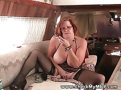 Amateur granny MILF giving out