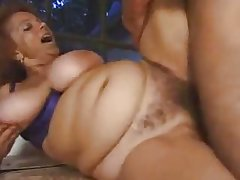 Big titted hairy granny open-air