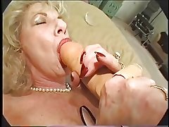 Hairy Granny Loves Dildo coupled with Bbc