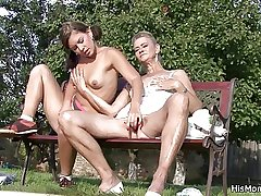 He affronting old ma increased by teen toying