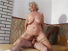 Granny Norma peck away at again