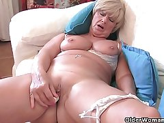 Granny Samantha's superannuated pussy needs diligence (compilation)