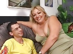 Muted Chubby Milf Gets Fucked Wide of A Younger Guy