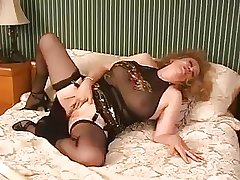 X-rated Old Granny Kitten Natividad Dildos Her Pussy