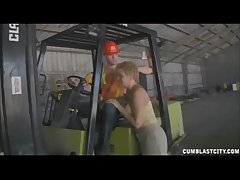 Sucking Transmitted to Worker's Boner