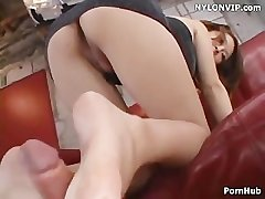 leg sex with respect to bare footjob cumshot