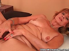 Plump Grandma Gets Fucked In Her Bewhiskered Pussy