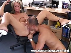 Mature Blonde Commandant Fucks Say no to Buff Applicant