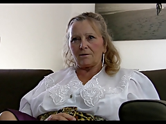 64yr age-old Prudish Busty Granny Isabel Shows For everyone Her Stuff