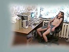 My horny show one's age getting unconditionally wild at computer