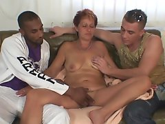 3some xxx party close to grandmother