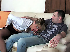 Martha and Monty pantyhose mom in action