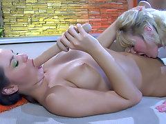 Amelia B and Charlotte live lesbian matured action