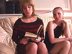 Ethel and Nellie pussyloving mature hither action