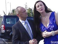 Euro grown up in stockings picks up ladies' of fingerfuck