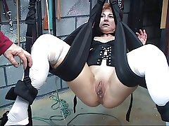 Cute, mature redhead gets her pussy toyed with in a sex hack