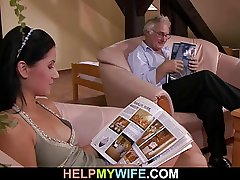 Cuckolding surprise for sexy wife