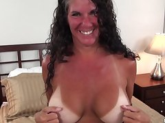 Texas MILF with fat tits tan lines