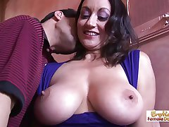 Barman can't resist this cougars huge breakage