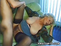Venerable unpaid mature wife sucks and fucks upon cumshot