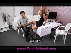 FemaleAgent Asian casting fucks cissified agent walk-on expansively