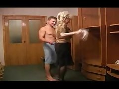 Russian guy and mature granny