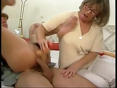 German mom increased by lady in some groupsex action