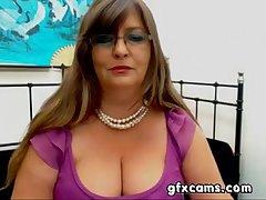 Mature BBW Greek Woman Strips Teases Cam