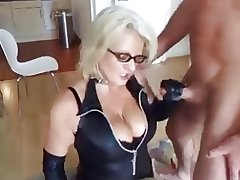 blonde mature fucks her skimp