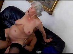 granny Norma fucks young man