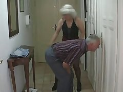 Sexy Teen fucks in the air older Couple