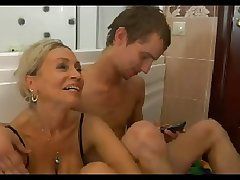 HOT MOM n150 flaxen-haired russian mature milf and a young tramp