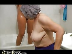 OmaPass BBW heavy Granny with old Of age unspecific in antiseptic