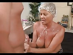 astounding mature cumming and femdom play