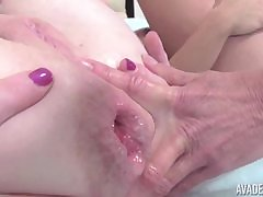 OldNanny Mature gets fisted in bore together with pussy