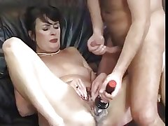 Cute hairy adult hardly fucked and toyed