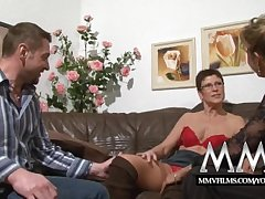 MMV Films Pierced mature spliced gets cock