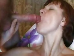 Russin Mature - Dildo, Cumshot and Creampie
