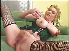 Oversize Tits Hairy Pussy Full-grown fucked by Bbc