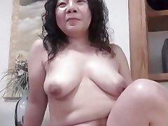 Japanese unsightly BBW Mature Creampie Junko graduate 46years