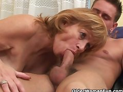Granny gets her prudish pussy fucked impenetrable depths
