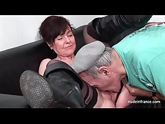 Amateur mature hard DP plus facialized in 3way with reference to Papy Voyeur