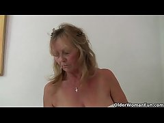 British granny Isabel has big knockers and a fuckable fanny