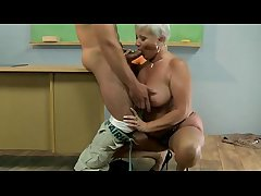 Age-old hot GILF of age motor coach sucks student