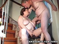 Chubby amateurish wife toys with an increment of sucks with an increment of gets fucked