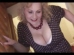 Monumental boobs of age tow-headed babe in pantyhose