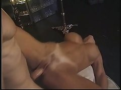 Trio with a sexy amateur MILF fro lounge